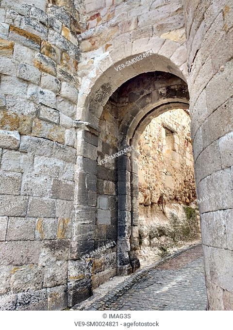 'Doña Urraca' door in city walls of Zamora, Spain