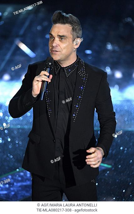 Robbie Williams attends the 67th Sanremo Music Festival 2017, Italy - 08 Feb 2017