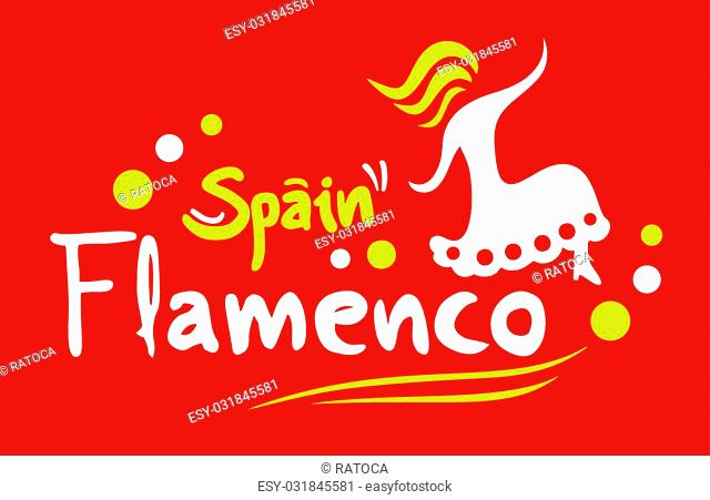 Creative design of flamenco card