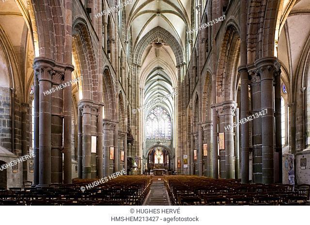 France, Ille et Vilaine, Dol de Bretagne, Saint Samson Cathedral with Gothic style