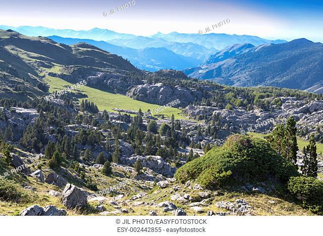 Karstic landscape in Belagua Near Arette The Roncal Valley Navarre Spain