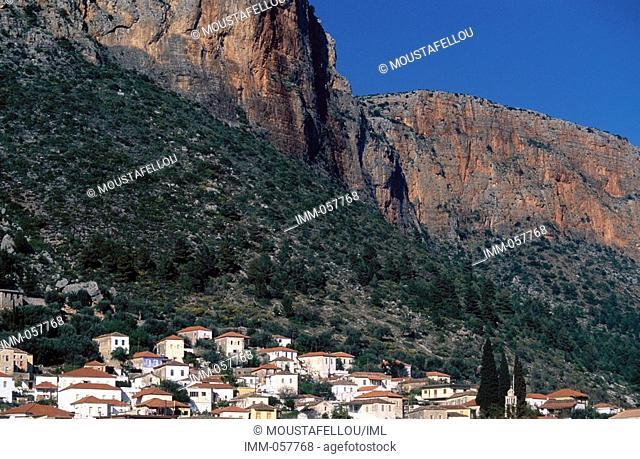 Peloponnese, Arcadia, Leonidio General view
