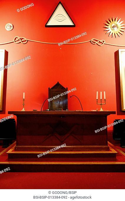 Grande Loge de France. The Franklin Delano Roosevelt masonic lodge room