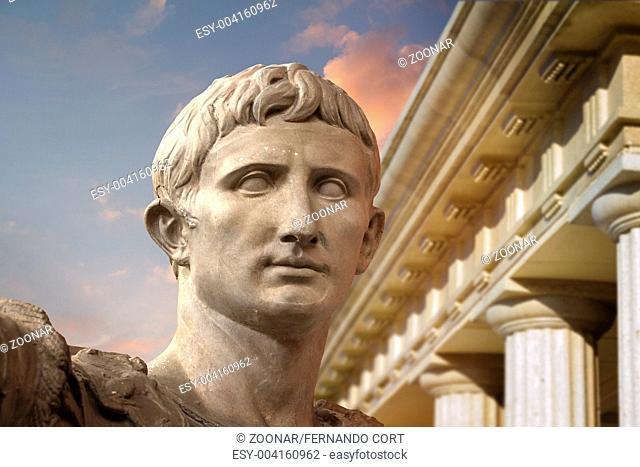 Statue of Julius Caesar Augustus in Rome
