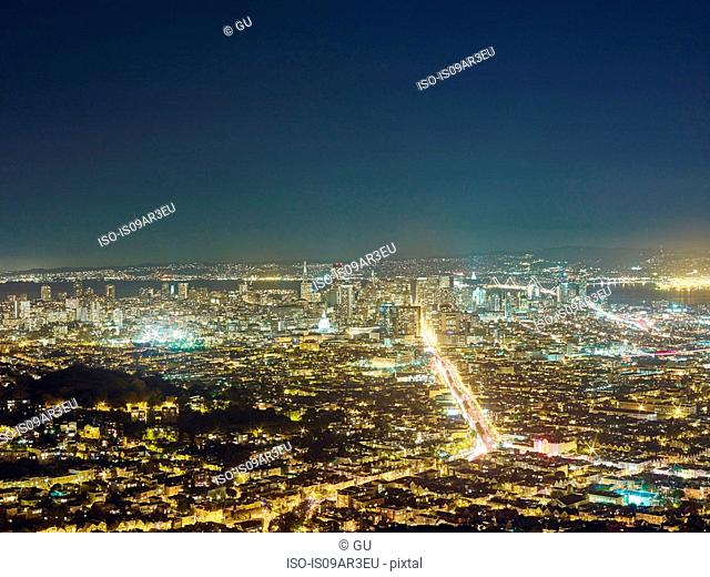 San Francisco viewed from Twin Peaks, San Francisco, California, USA