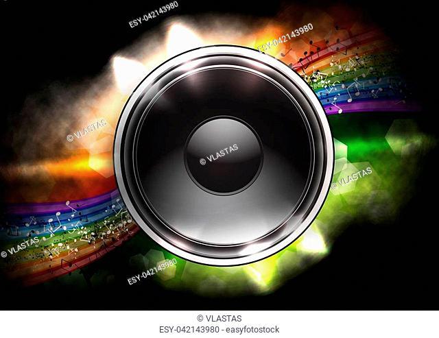 speaker on the full color background