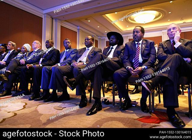 Former New York City Mayor Michael Bloomberg, Djbouti President Ismail Omar Guelleh, South Sudan President Salva Kiir Mayardit
