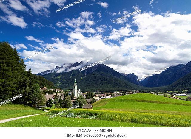Italy, Trentino Alto Adige, Bolzano province, Dolomites, Dobbiaco, parish church of St John the Baptist