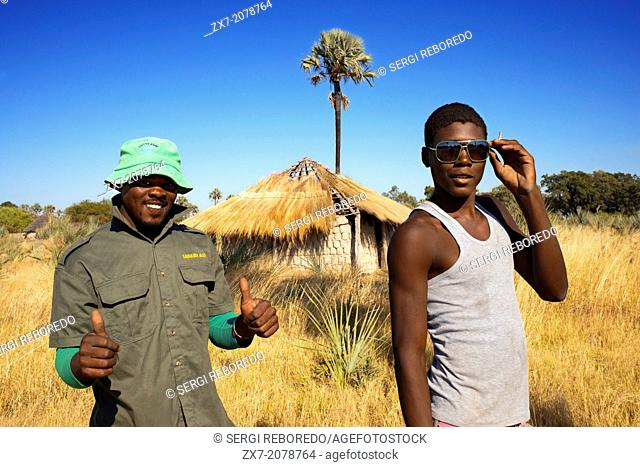In the Batawana altea tribe is possible to observe how they got the first effects of globalization , as shown in sunglasses and clothing of these two local...