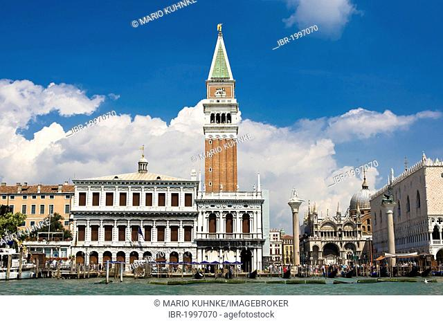Campanile, bell tower, St Mark's Square, Venice, Italy, Europe