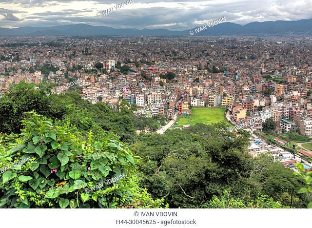 Cityscape from Swayambhunath, Kathmandu, Nepal