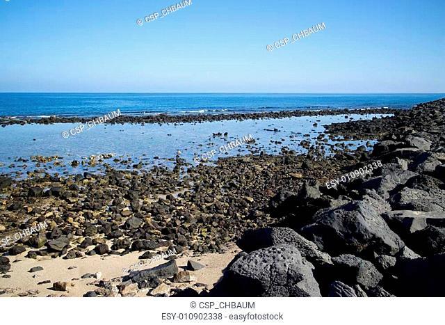 Lanzarote Rocky Beach Scene 001