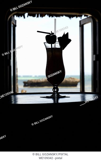 Tropical Drink Silhouette - Hemingways Resort - Watamu, Kenya