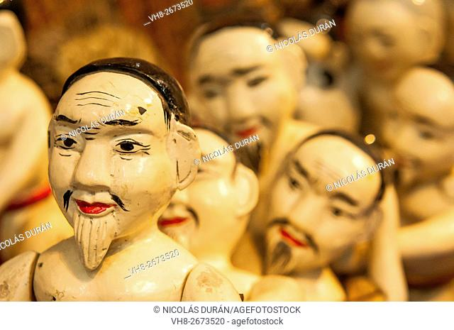 Puppets of the Thang Long Water Puppet Theatre. Hanoi. Vietnam