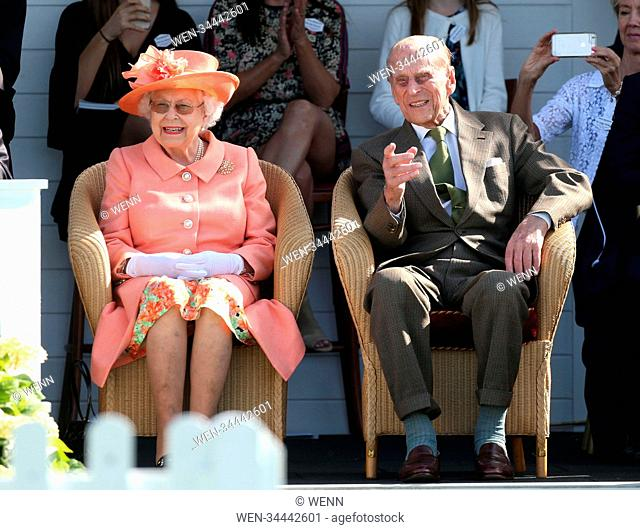 The Queen and Prince Philip, Duke of Edinburgh attend Royal Windsor Cup, Windsor. Featuring: The Queen Elizabeth II, Prince Philip
