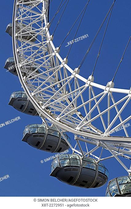 London Eye, Close Up. London, England, UK