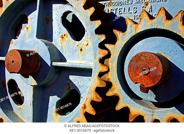 transmission gear of old industrial machinery