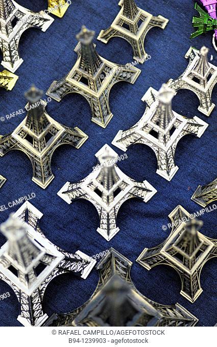 Eiffel tower souvenirs. Paris, France