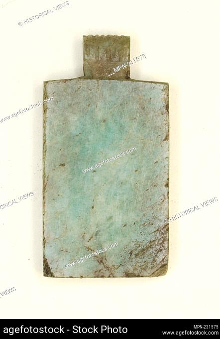 Amulet of a Writing Tablet - Late Period, Dynasties 26–31 (664–332 BC) - Egyptian - Artist: Ancient Egyptian, Origin: Egypt, Date: 664 BC–332 BC