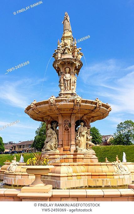 Daulton fountain at the Peoples Palace, Glasgow Green, Glasgow, Scotland, UK