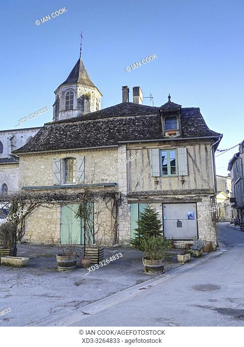 medieval architecture, Issigeac, Dordogne Department, Nouvelle Aquitaine, France