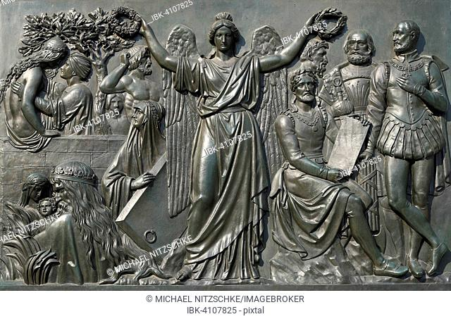 Panel at the Goethe Monument, Roßmarkt, Frankfurt am Main, Hesse, Germany