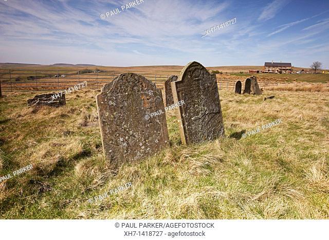 Cefn Golau Cholera Cemetery, Tredegar, South Wales, UK