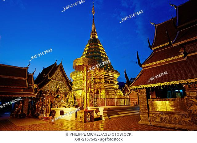 Thailand, Chiang Mai, Wat Phra That Doi Suthep
