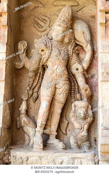Indian God Shiva, relief, Gangaikonda Cholapuram, Ariyalur, Tamil Nadu, India