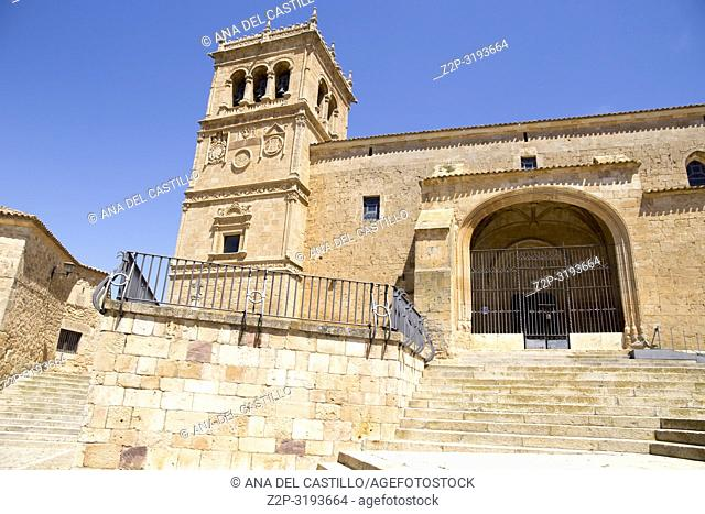 Village of Moron de Almazan, Soria provincia,Castilla y Leon, Spain Asuncion church
