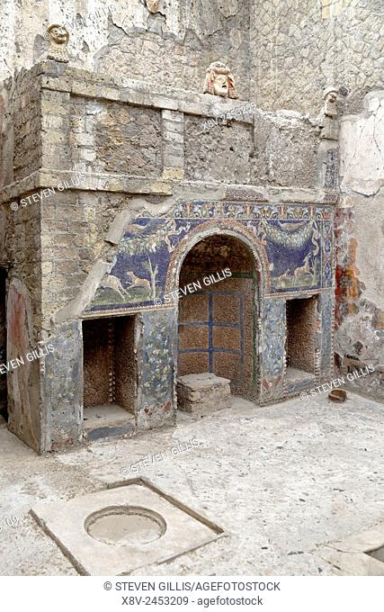 Nymphaeum in the House of Neptune and Amphitrite, Herculaneum, Ercolano, Italy