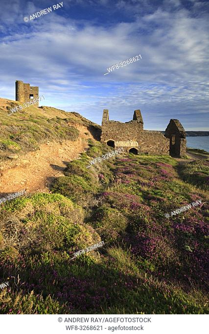 Engine Houses at Wheal Coates, near St Agnes on the North Coast of Cornwall