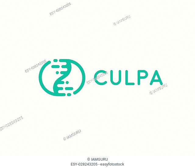 Abstract biotechnology dna logotype. Medicine, science, laboratory, modern logo icon. Technology modern yin yang vector symbol