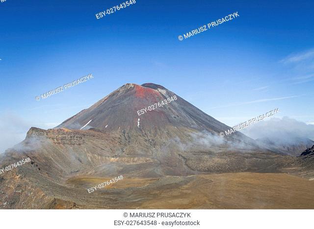 Ngauruhoe volcano (2291mt), Tongariro national park, North island, New Zealand