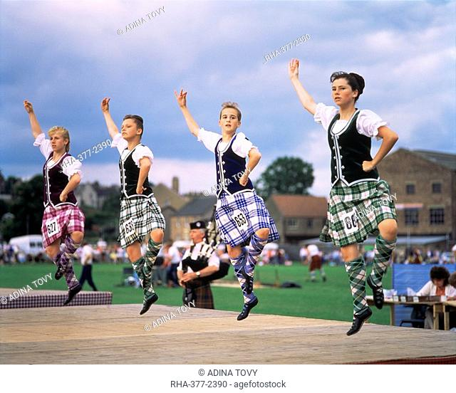 Dancers at the Highland Games, Edinburgh, Lothian, Scotland, United Kingdom, Europe