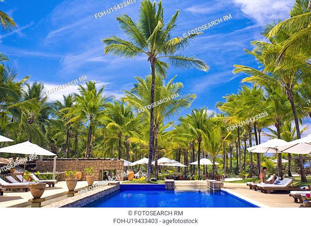 Brazil Hotel pool beside ocean