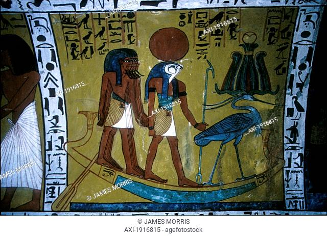 Re In Tombs Of Workmen At Tomb Of Sennedjem