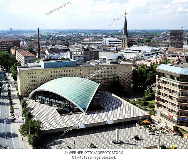 Germany, Dortmund, Ruhr area, North Rhine-Westphalia, city view, town view, panorama, panoramic view, theatre