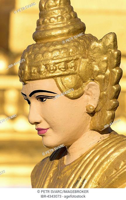Spirit, nat statue at Shwedagon Pagoda, Yangon, Rangoon, Myanmar, Burma