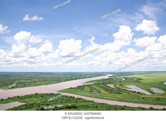 Confluence of the Miranda River with the Paraguay River, Corumbá, Mato Grosso do Sul, Brazil