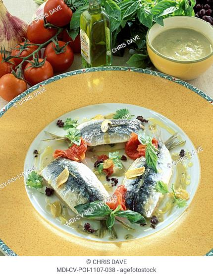 Sardine stuffed with spinach