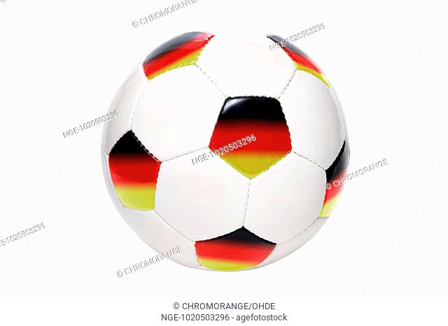 Soccer ball with flag of Germany