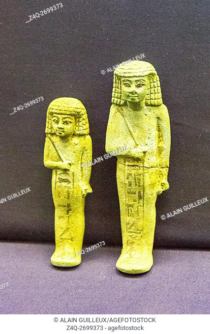 Egypt, Cairo, Egyptian Museum, funeral material found in the royal necropolis of Tanis : Ushabtis of prince Hornakht