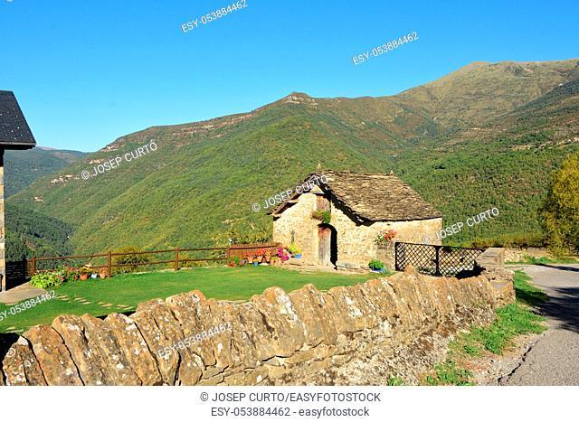 landscape of Asin de Broto, Huesca province, Aragon, Spain