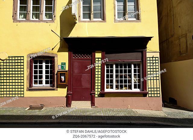 Exterior Facade in Strasbourg, Alsace, France