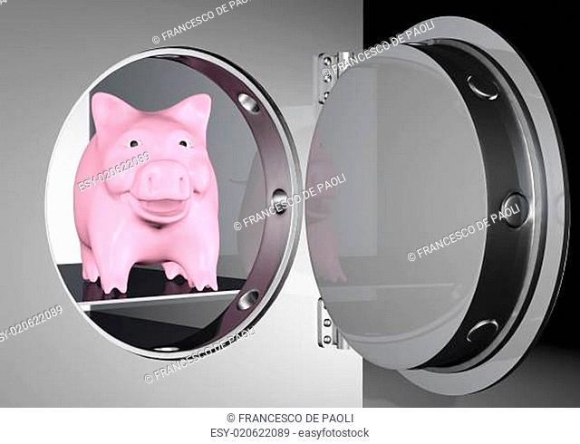piggy bank into a safe