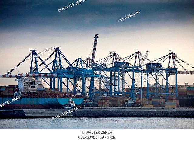 Container terminal, Naples, Italy