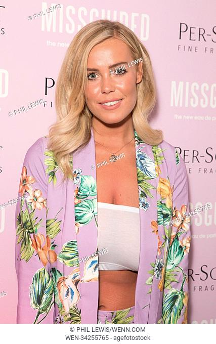 Jess Shears, Chloe Meadows, Courtney Green, Kady McDermott and Danielle Sellers make personal appearance at the Missguided new fragrance launch party Featuring:...