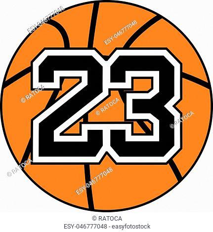 design of basket 23 number icon