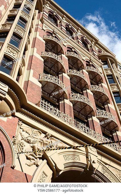 Period office building in Collins Street, Melbourne, Australia